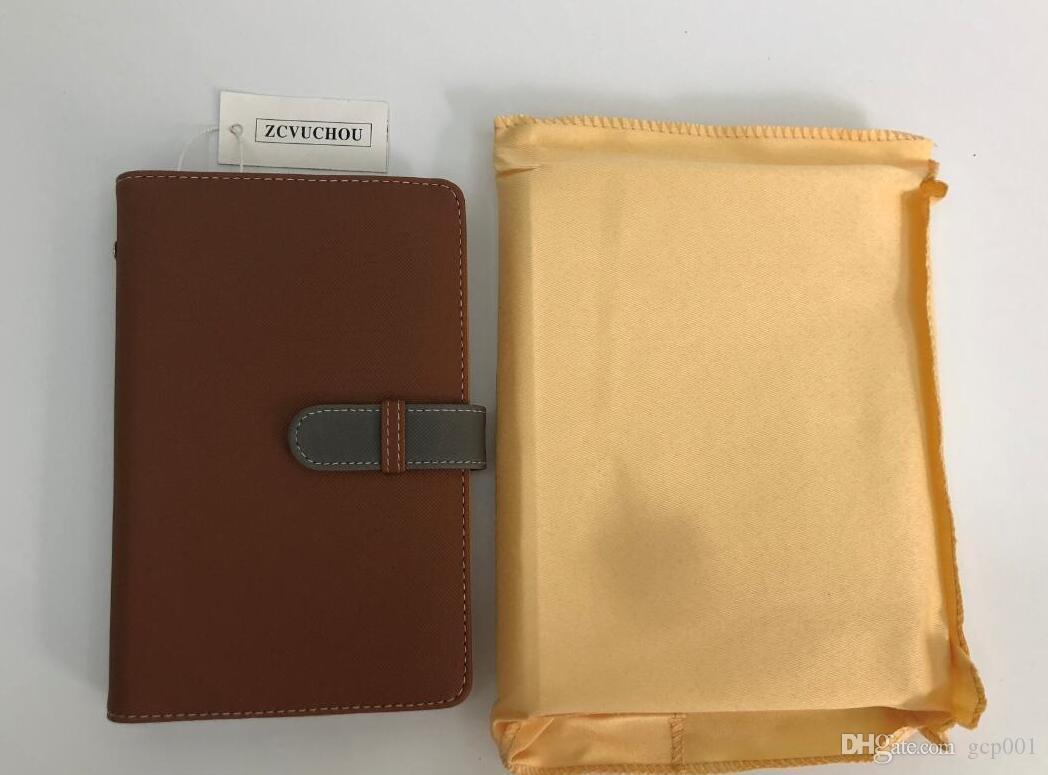 Vente Marque et cartonnier Couverture Couverture En Cuir Sac Cuir avec poussière Chaud Facture Bague Notes Cahier Agenda Diary Style Or Style Gold ESRSA