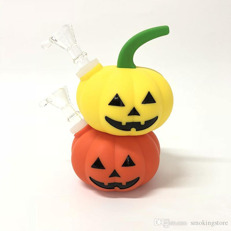 Halloween 2020 The Shape 2020 2020 Pumpkin Shape Hookah Smoking Water Pipe Glass Bong