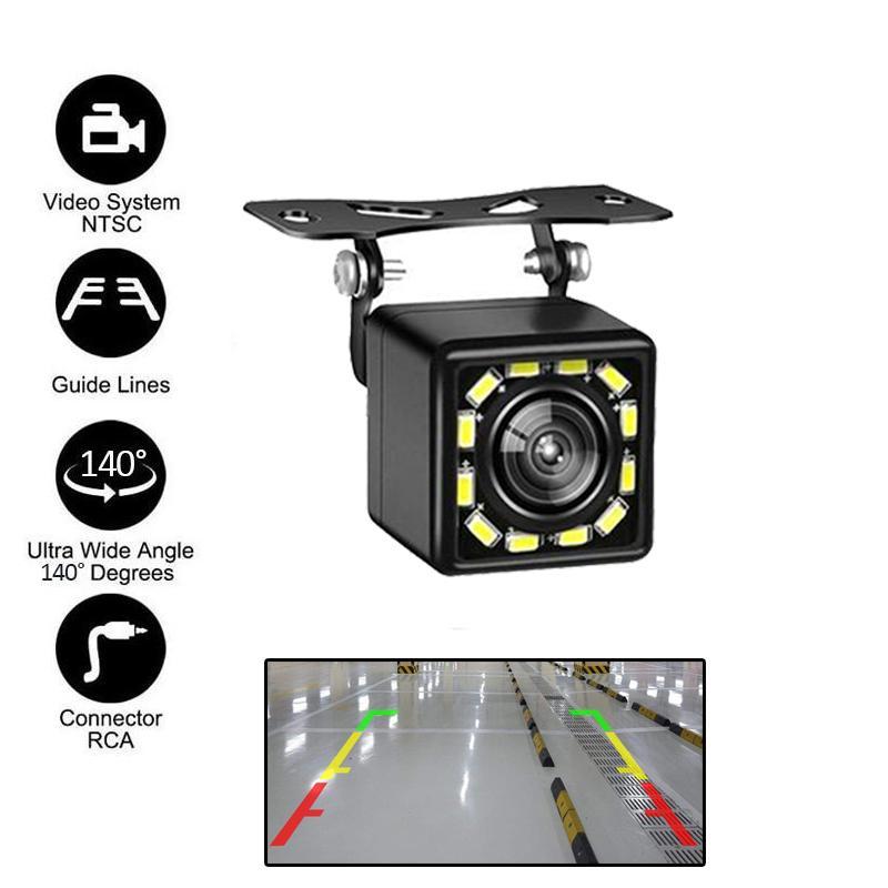 Универсальный HD автомобильная камера заднего вида IP67 водонепроницаемый CCD объектив 140 градусов камеры заднего вида вело парковки автомобиля резервное копирование камерой