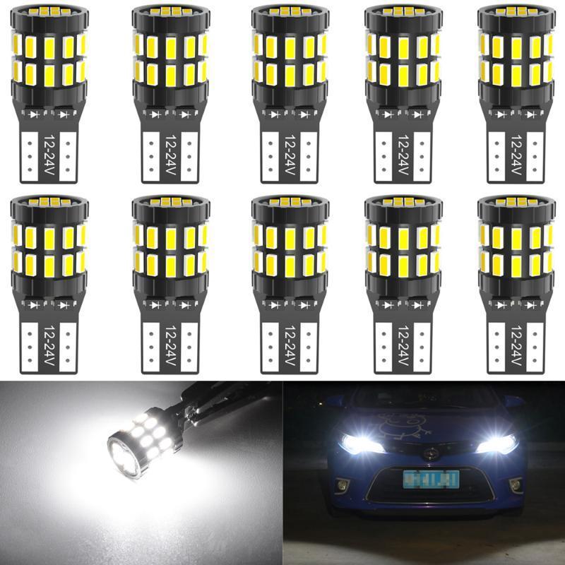 10pcs T10 LED Canbus lampadine per E90 E60 Bianco 168 501 W5W LED Lamp cuneo dell'automobile Luci interne 12V 6000K Rosso Ambra giallo blu