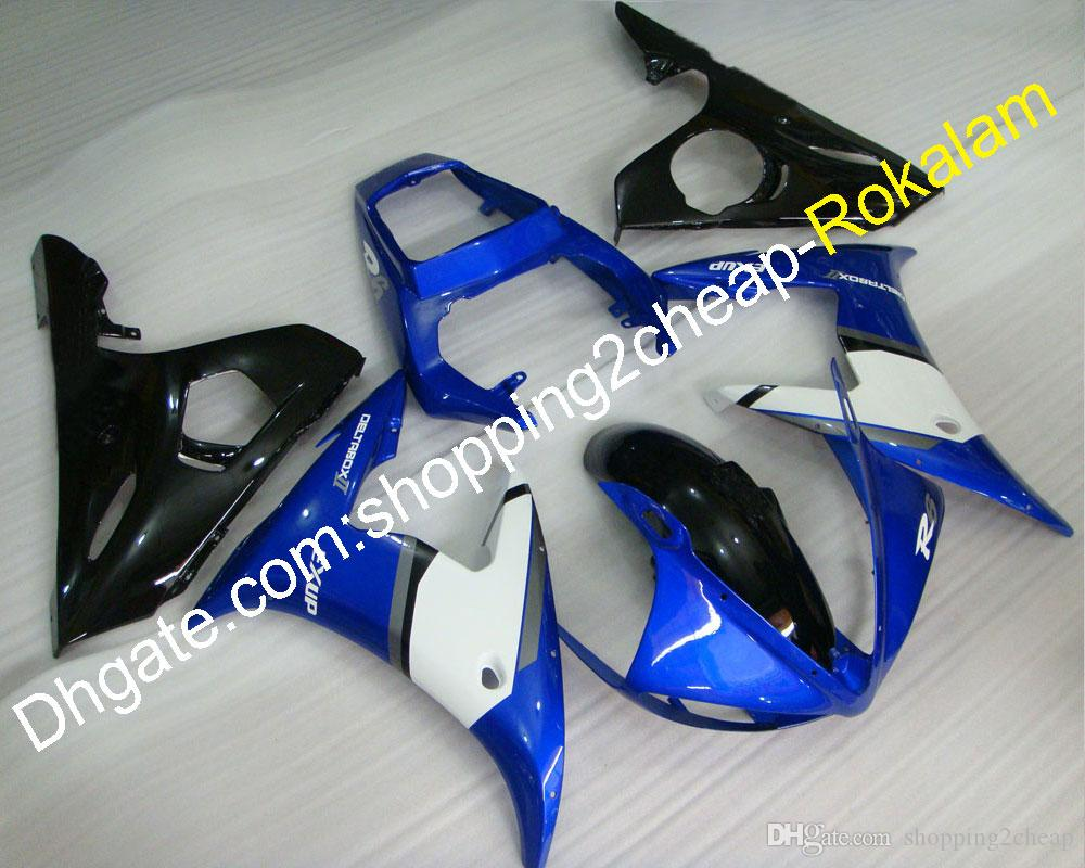 ABS Motorcycle Fairings For Yamaha Parts YZF R6 2003 2004 YZF-R6 03 04 Sport Moto White Blue Black Fairing Kit (Injection molding)
