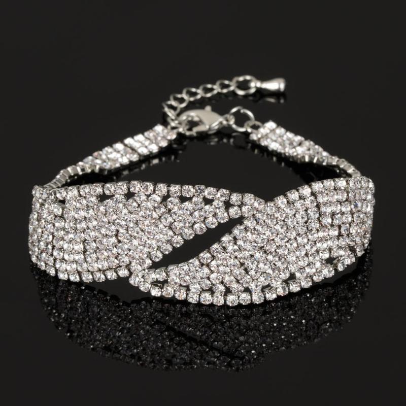 Pulseras de la joyería de moda Lover para el banquete de boda clásico cristalino de las mujeres de lujo brazaletes de las pulseras Accesorios B127