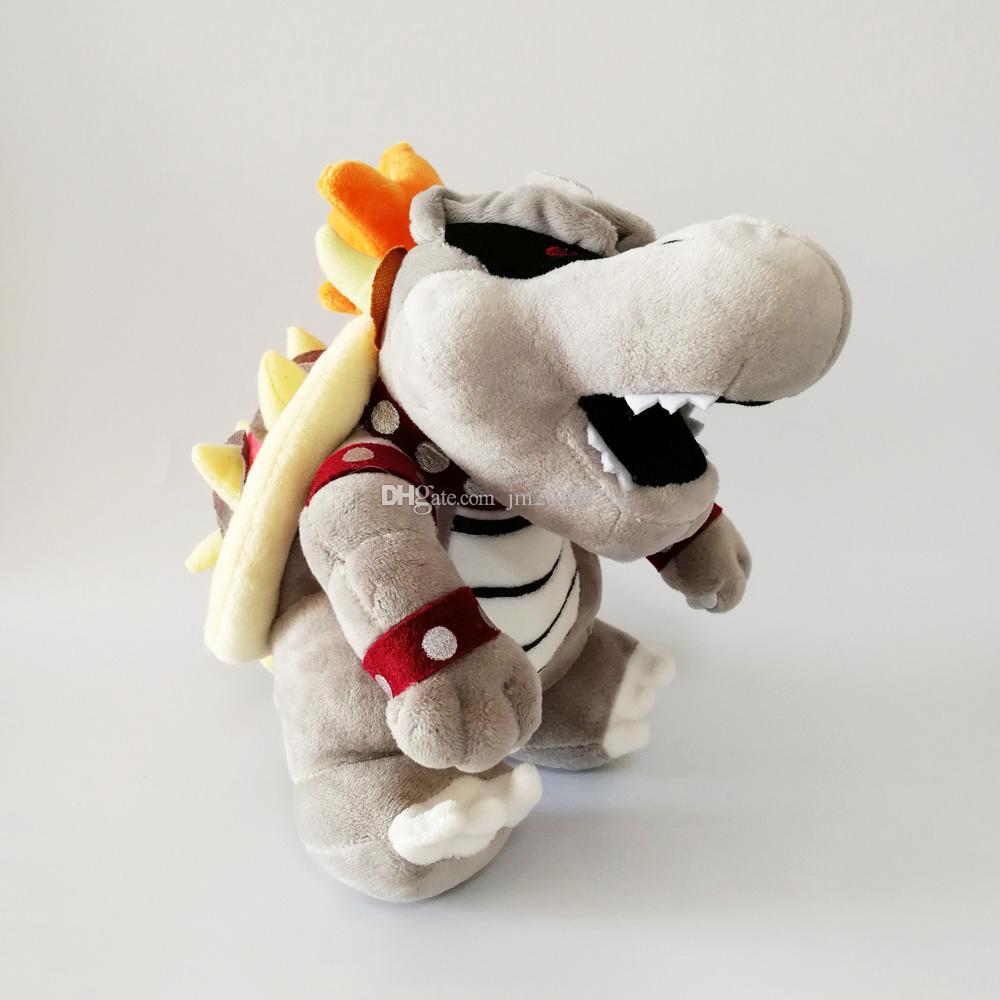 Großhandel LUIGI Bros Grey Bones Bowser Koopa Soft-Puppe-Plüsch-Spielzeug für Kinder Weihnachten Halloween besten Geschenke 25cm