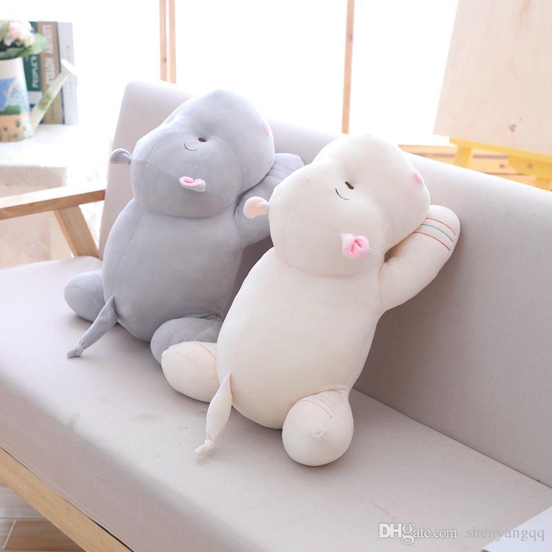 50 centímetros Kawaii Hippo Plush bonecas de pelúcia macia para baixo Cotton animal Pillow Presente de Natal de aniversário bonito do brinquedo para crianças Kid