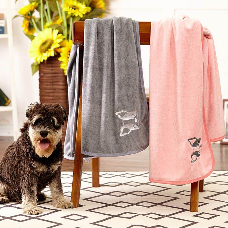 Pet Yumuşak Mikrofiber Banyo Havlu Temizleme Mendilleri Su Emme Hızlı Kuru Havlu Köpek Kedi Battaniye