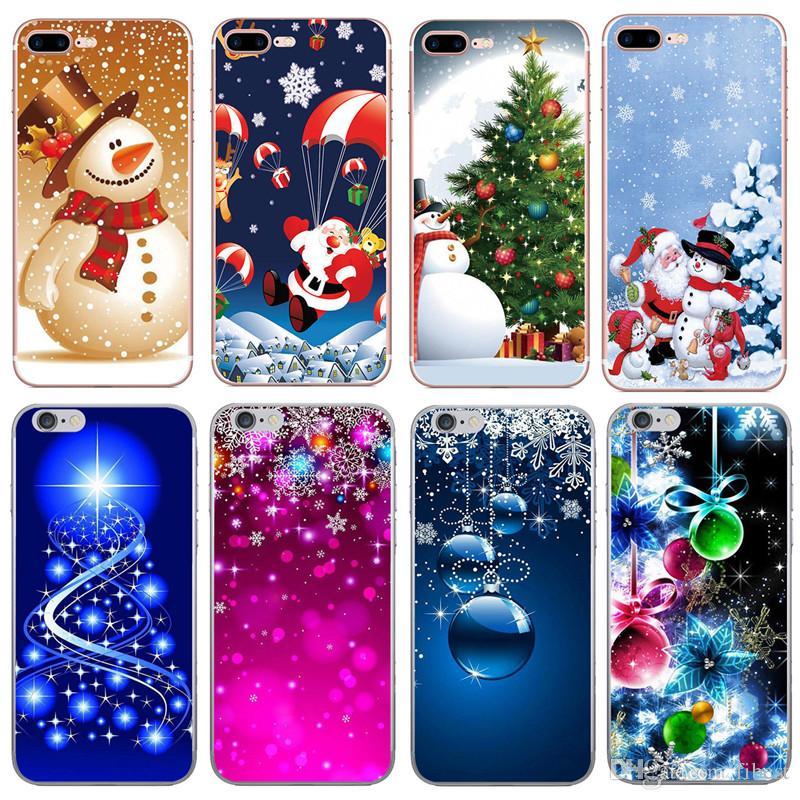 Christmas Phone Case Iphone 7.Christmas Phone Case For Iphone 5s 6 6s 7 8 Plus X Xr Santa Claus Cartoon Soft Tpu Luxury Designer Phone Case Cover Custom Cell Phone Case Cute Cell