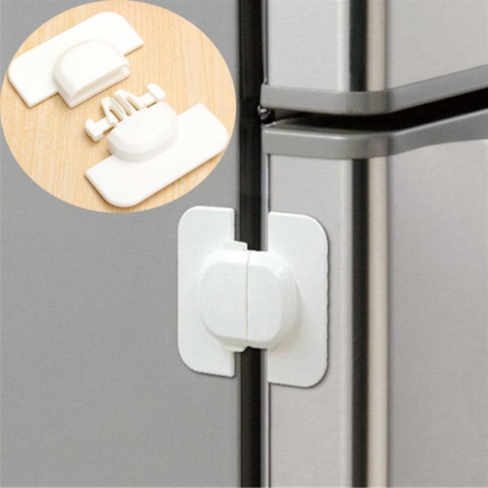 1 unids Gabinete Puerta Cajones Refrigerador Inodoro Cerradura de plástico de seguridad para niños Kid Baby Safety Lock Gabinete Cerraduras