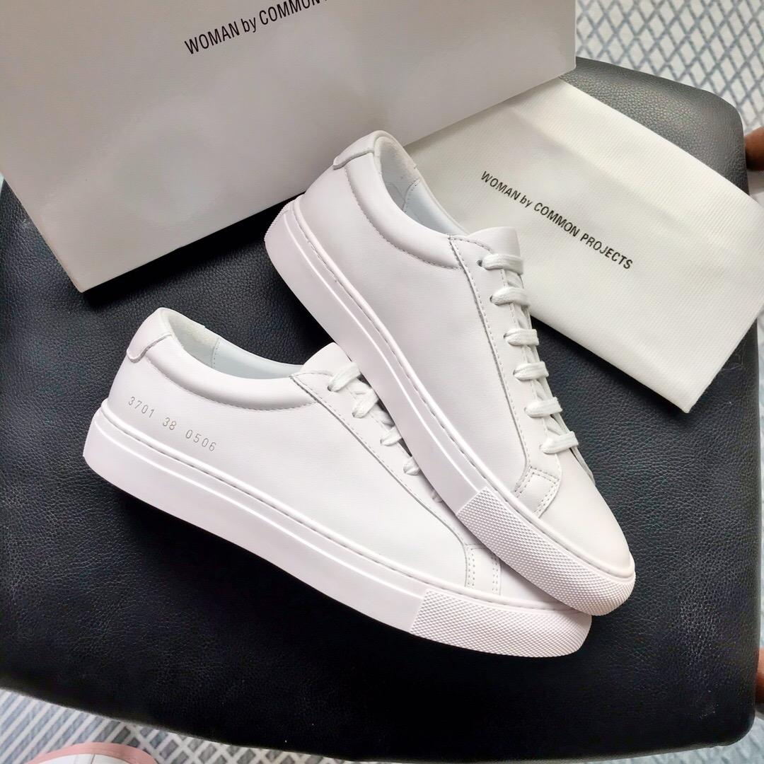 2020 New White Achille Rose bas chausse Sneakers en cuir véritable Chaussures Casual Homme Femme Flats A1 Chaussure