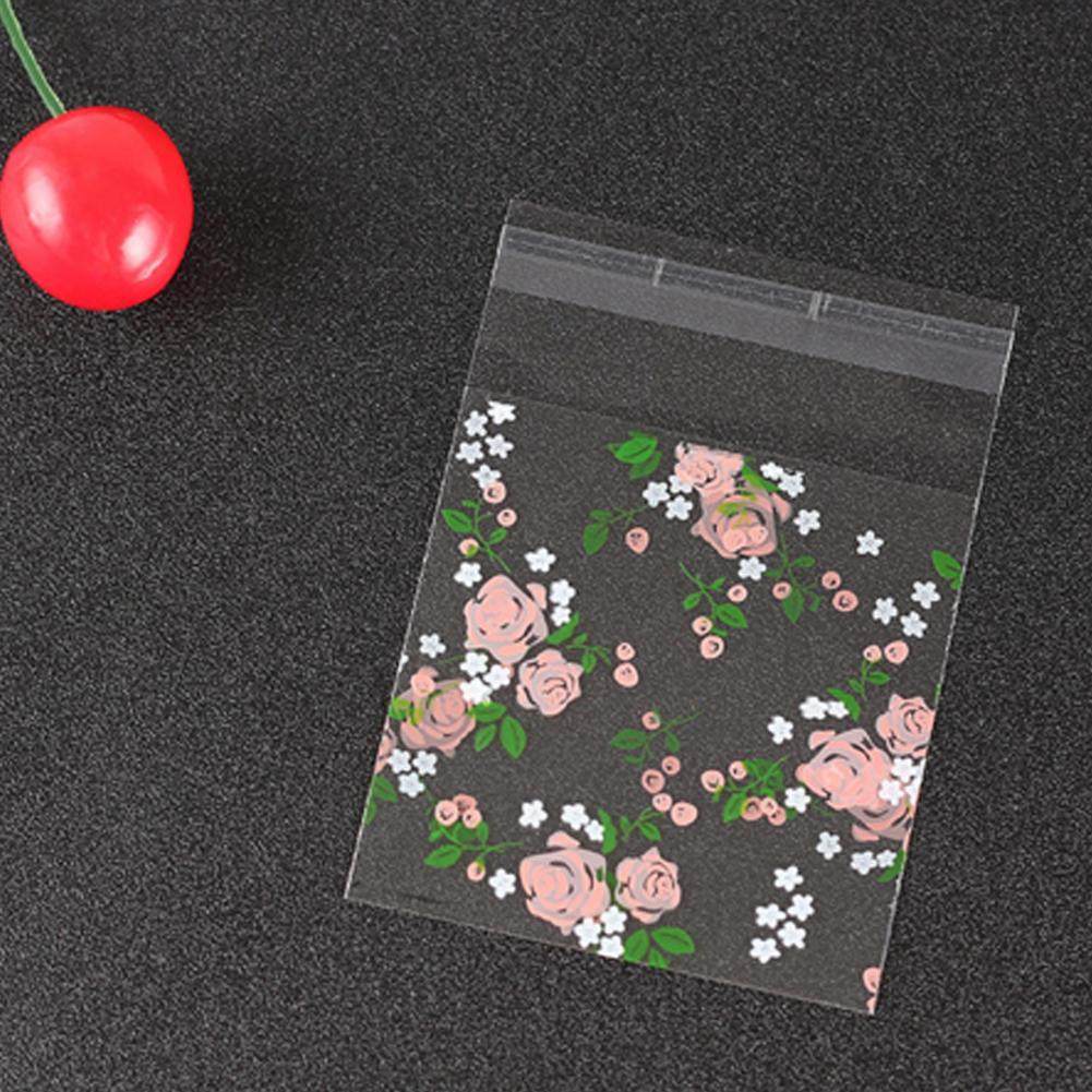 Прозрачный розовый узор ручной работы мешок конфеты печенье подарочные пакеты с DIY самоклеящийся мешок для свадьбы День Рождения Holiday125