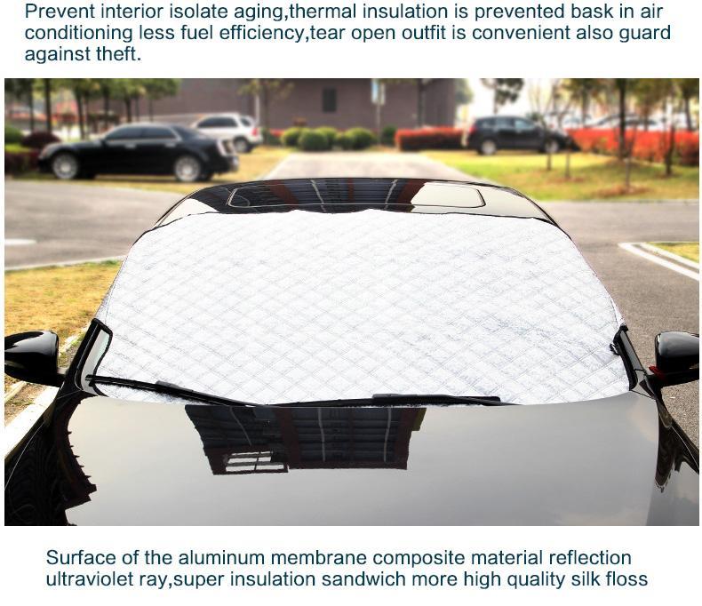 La ventana del invierno Láminas del sol del parabrisas parabrisas de la cortina del visera del coche de la ventana trasera de la cubierta delantera de la sombrilla UV protege la película coche con