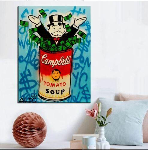 Alec Tekel Banksy Yağlıboya Tuval Ev Dekor Duvar Sanatı Resim Yüksek Quaity Handpainted HD Baskılı Graffiti sanat Campbell çorbası