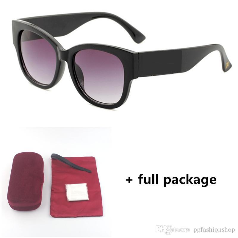 Mesdames 0218 Big Frame Bee Tricolor Little Diamant 7 Nouveaux verres de luxe de luxe marque lunettes de soleil lunettes de soleil JWQJP