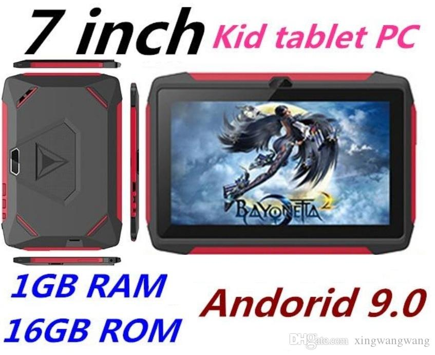 NEW kid Tablet PC Q98 Quad Core 7 Inch 1024*600 HD screen Android 9.0 AllWinner A50 real 1GB RAM 16GB Q8 with Bluetooth wifi TOP Quality dhl