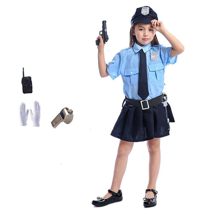 Halloween 2020 Cops 2020 Tiny Cop Cute Girls Carnival Halloween Costume For Kids