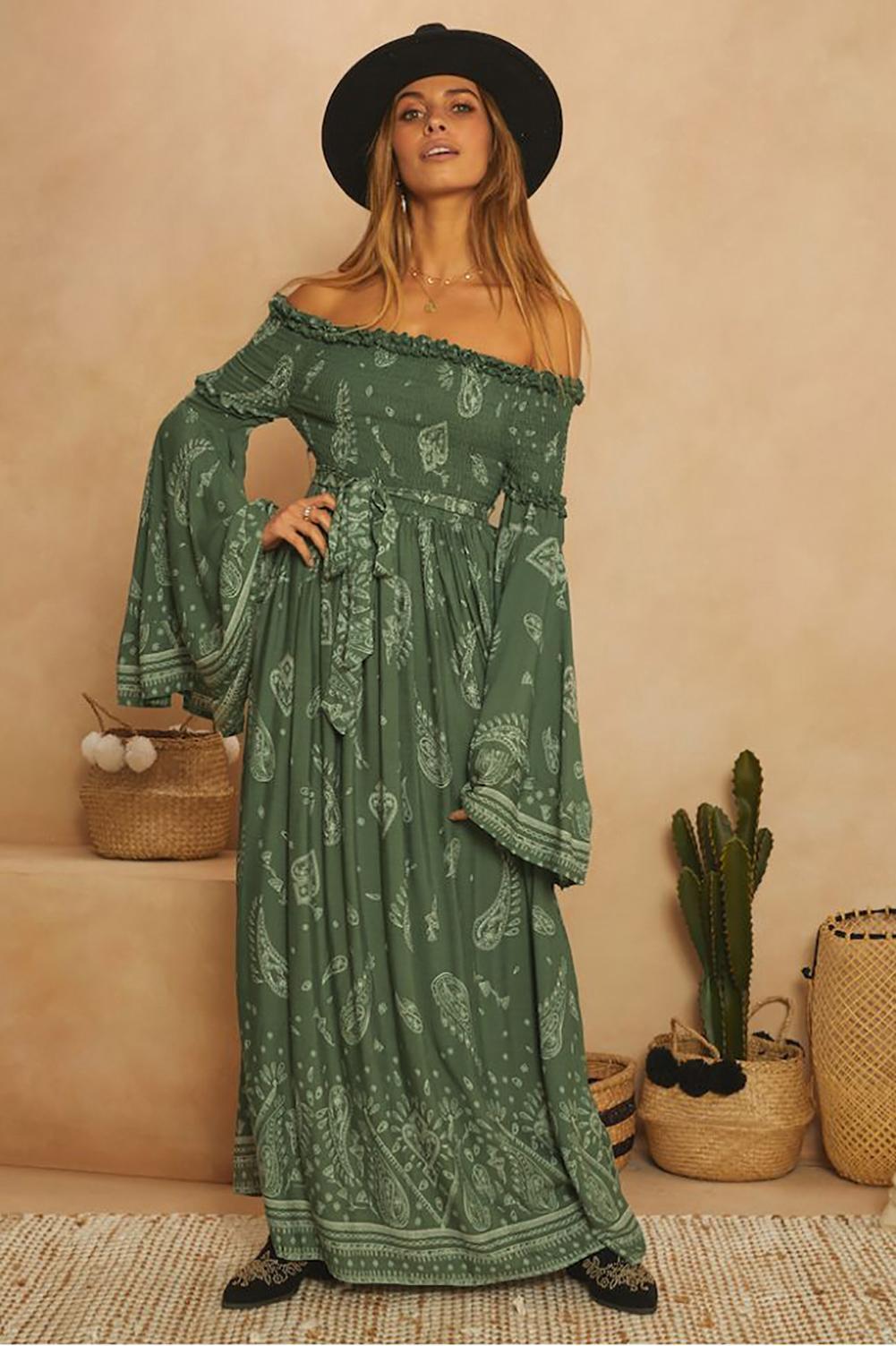 Lieber Liebhaber 2020 Freeshipping Frauen Kleidung auf Lager Artikel Großhandel All Around The World Maxi-Kleid
