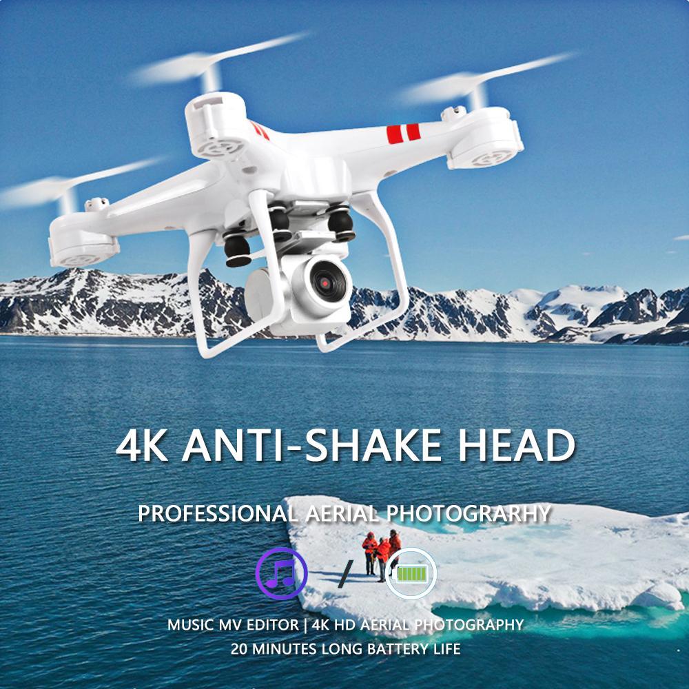 2019 جديد بدون طيار KY101D 4K الكاميرا ضغط الهواء انتقال HD واي فاي FPV بدون طيار ارتفاع ثابت أربعة محاور هليكوبتر اتفاقية روتردام طائرات مع الكاميرا