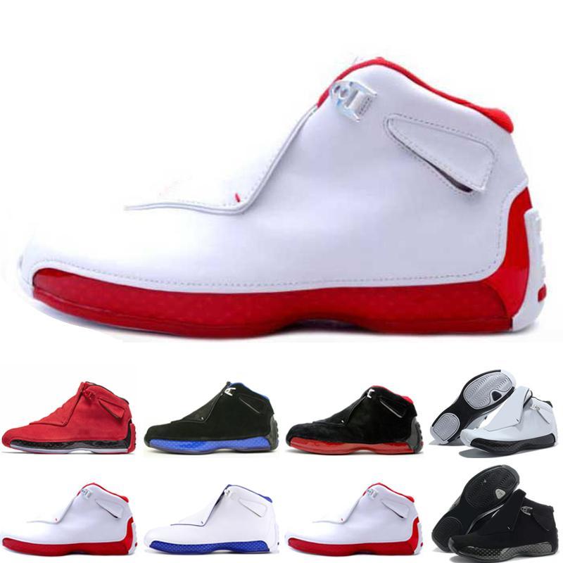 Cheap 18 18s Mens scarpe da basket Toro Olimpiadi ASG Nero Bianco Rosso Bred dell'azzurro reale atletici scarpe da tennis addestratori di sport sport all'aria aperta 12