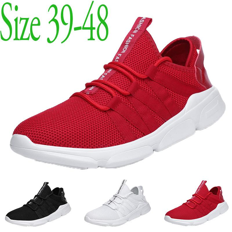 Sapatos casuais para homens malha Mens verão Deslizamento-On Casual Sports Shoes grandes malhagem Shoes Homens Plus Size 39-48