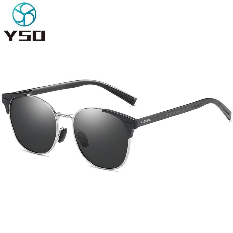 YSO 2020 Moda Mulheres Homens óculos polarizados UV400 Proteção preta copos para carro de condução Senhora fotossensíveis Sunglasses 582