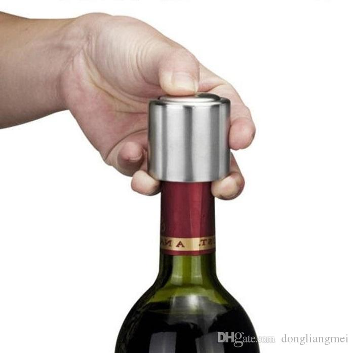 Stainless Steel Reusable Vacuum Sealed Champagne Red Wine Bottle Stopper Caps
