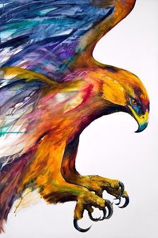 Birds Abstract Art Animal Nature love high quality Canvas Print Home Decor Wall