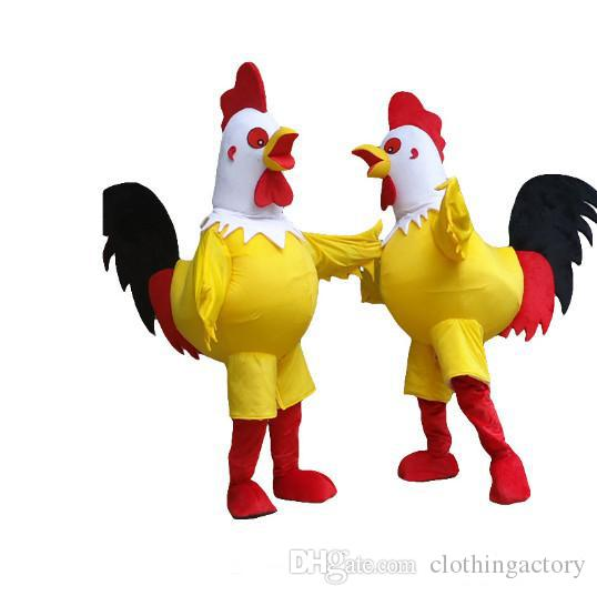 Halloween rooster Mascot Costume High Quality Cock chicken Animal Cartoon Animal character Christmas Carnival Costumes Paty Fancy Dress