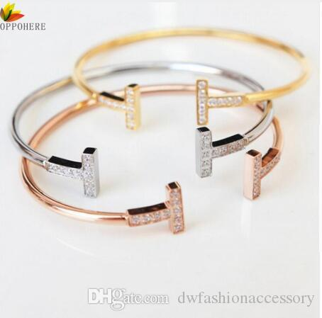 Branded Fashion Jewelry For Men And Women Lover Bracelets Bangles Nails Cuff Bracelet Jewelry Valentine Gift
