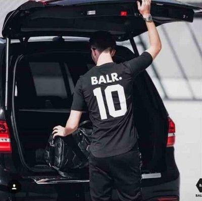 2019 novo designer de luxo marca de moda T-shirts Rua alfanumérico all-jogo camisa cottonT Fashion Desportivo Futebol Jersey desgaste tee ocasional