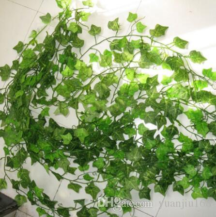 2.1M Artificial Ivy green Leaf Garland Plants Vine Fake Foliage Flowers Home Decor Plastic Artificial Flower Rattan string GB511