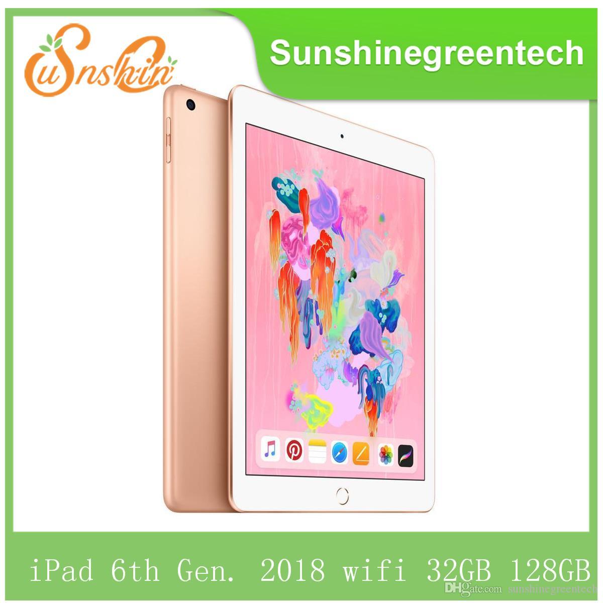 "Original Refurbished Apple iPad 6th Gen. 2018 wifi iPad 6 Touch ID 9.7"" Retina Display IOS A10 refurbished Tablet support Apple pencil"