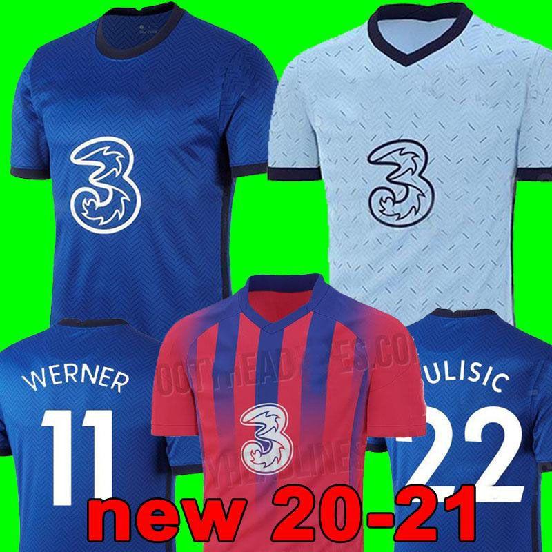 تايلاند WERNER PULISIC كانتي ABRAHAM MOUNT ZIYECH بالقميص لكرة القدم 2020 2021 Camiseta دي مجموعات كرة القدم قميص 20 21 SETS MEN KIDS