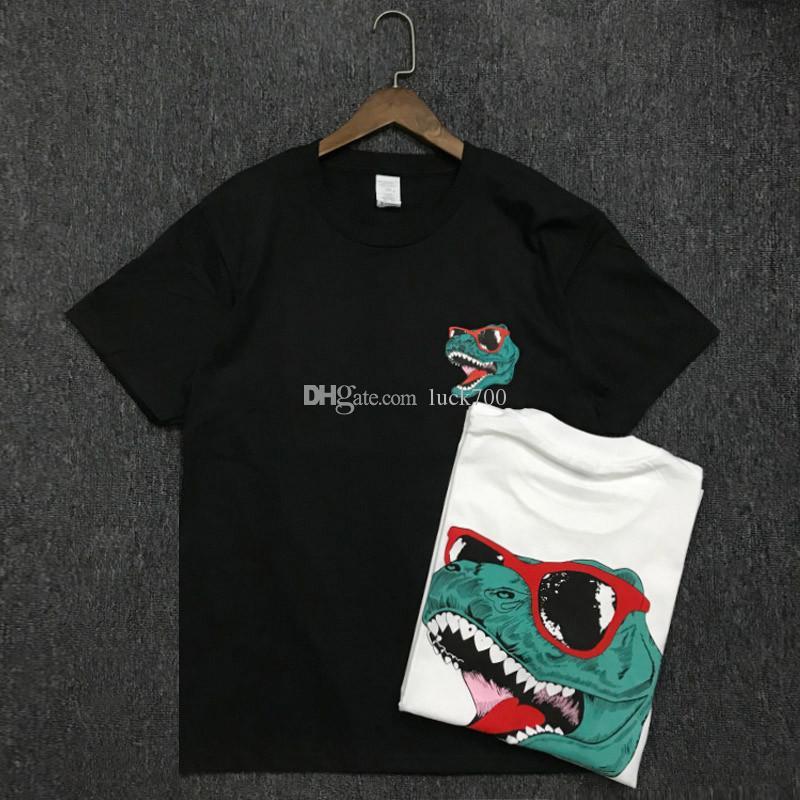19SS Hommes T-shirt de coton de haute qualité Couples manches courtes pour hommes T-shirts d'impression crocodile