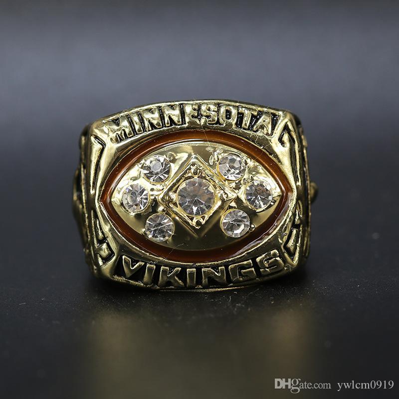 1976 Minnesota V i k i n g s Campeonato Anel atacado frete grátis