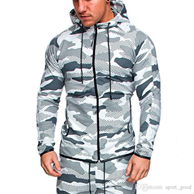 Hommes Camouflage Ensembles Mâle À Manches Longues Hoodies Veste Tactique Étanche Multicam Camouflage Coupe-Vent En Plein Air Camo Tops Pantalon Costumes