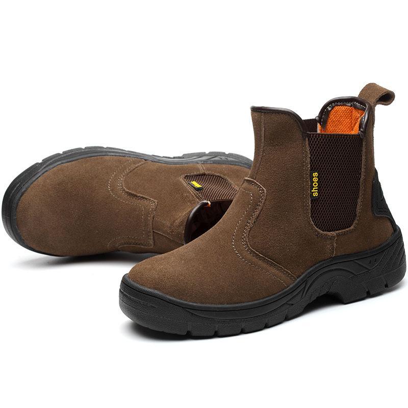 Cow Masorini respirável exterior Suede Aço Couro Toe Trabalho Botas Sapatos Homens antiderrapante Puncture prova de Segurança Shoes Botas WW-811