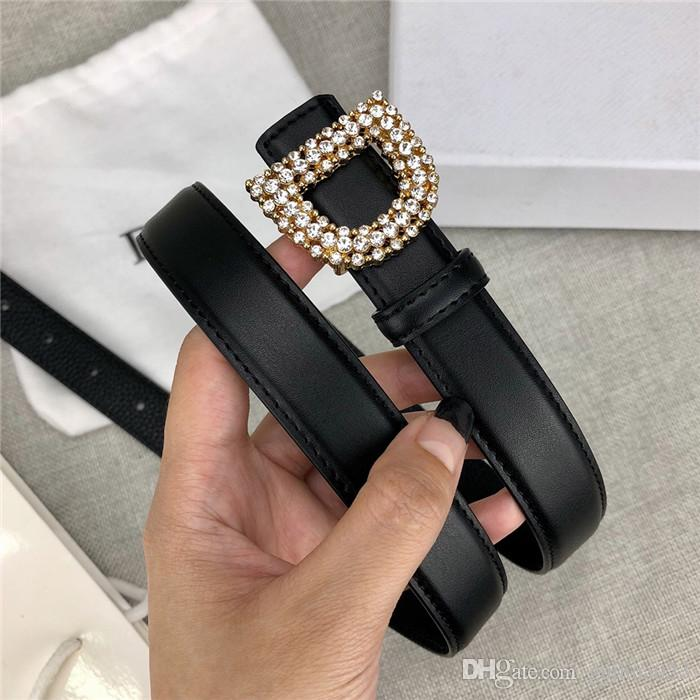 Luxury leather belt fashion casual lady leather belt black coffee leather belt body smooth buckle length 95 cm -125 cm wide 2.4cm22