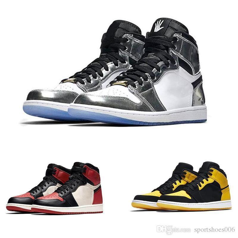 1 JO Hommes Basketball Chaussures à Chicago Hare Green Pine Barons Triple Noir Or Blanc Designer Baskets Chaussures pour Sport (sans boite)