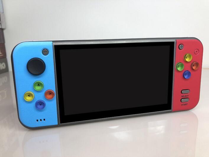 X7 5.0 inç Oyun Konsolu Kamera MP5 HD Filmler Çift Rocker 8G video Çocuklar Müzik LCD El FC GBA Oyunu