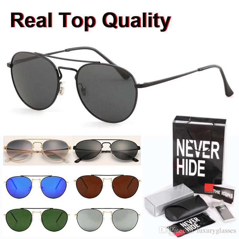 Gafas de sol de calidad superior de los hombres de las mujeres del diseño de marca de conducción de los vidrios UV400 gafas de lente de cristal con la caja original, paquetes, accesorios, todo!