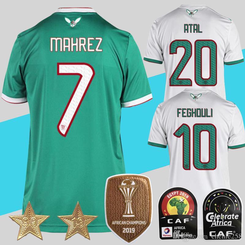 2020 Algeria 2 Etoiles Maillot Algerie Soccer Jersey 2 Stars 2019 Mahrez Bounedjah Feghouli Slimani Maillot De Foot Algerie Jersey From Chenle258 19 49 Dhgate Com