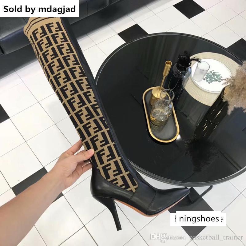 상자와 여성 배 노란색 가죽 무릎 부츠 여자의 허벅지 높은 양말 부츠는 캐주얼 신발
