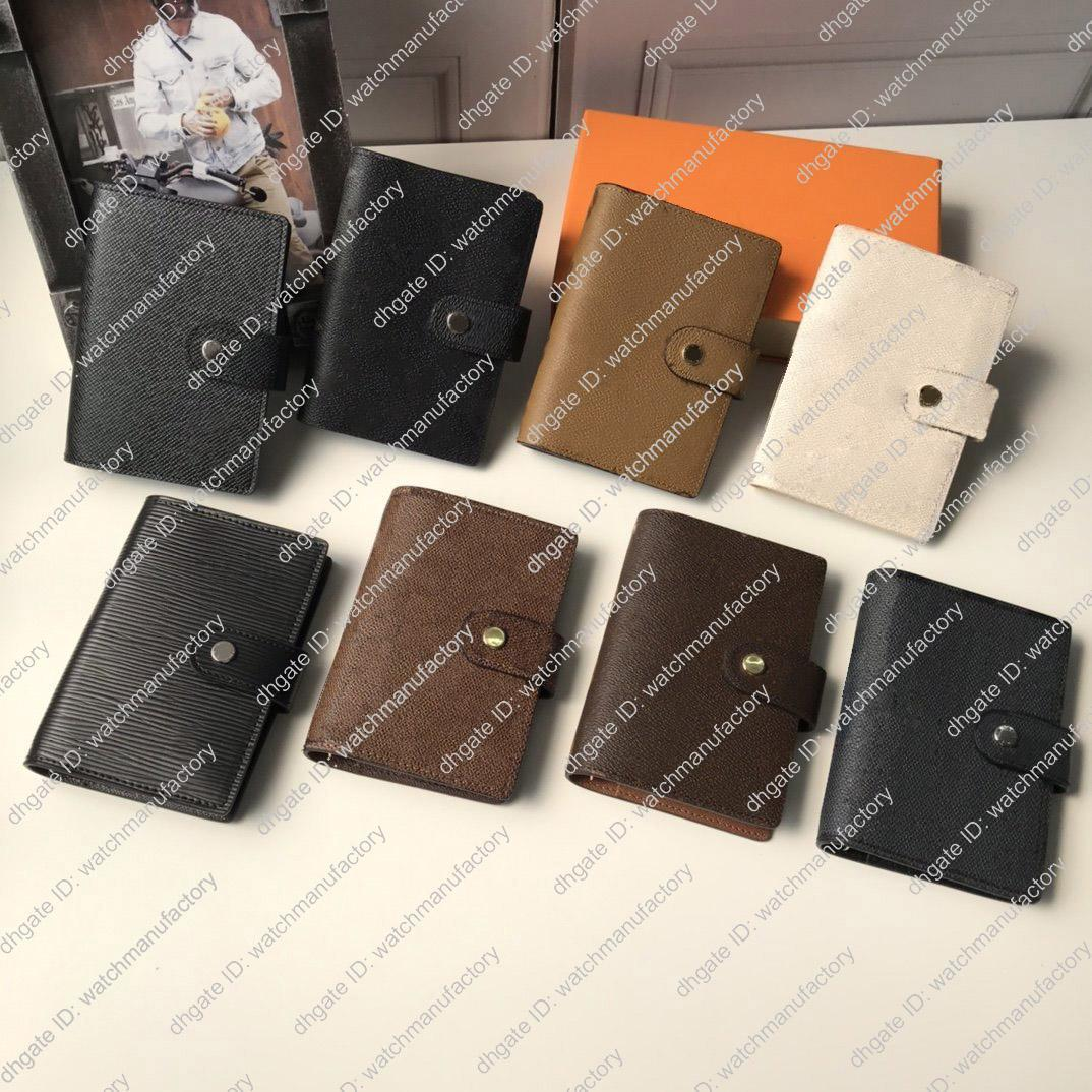 Designer Agenda Notebook-echtes Leder-Abdeckung 6 Farben High Grade Protokollanmerkung Notizbuch Notizen Zeitplan Veranstalter Planer