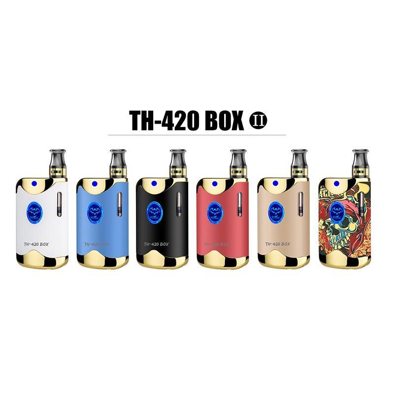 100% Original Kangvape TH-420 II Starter Kit 650mAh VV TH420 2 Batteriebox Mod 0,5 ml 92A3 Dicke Ölkassettenbehälter Authentic