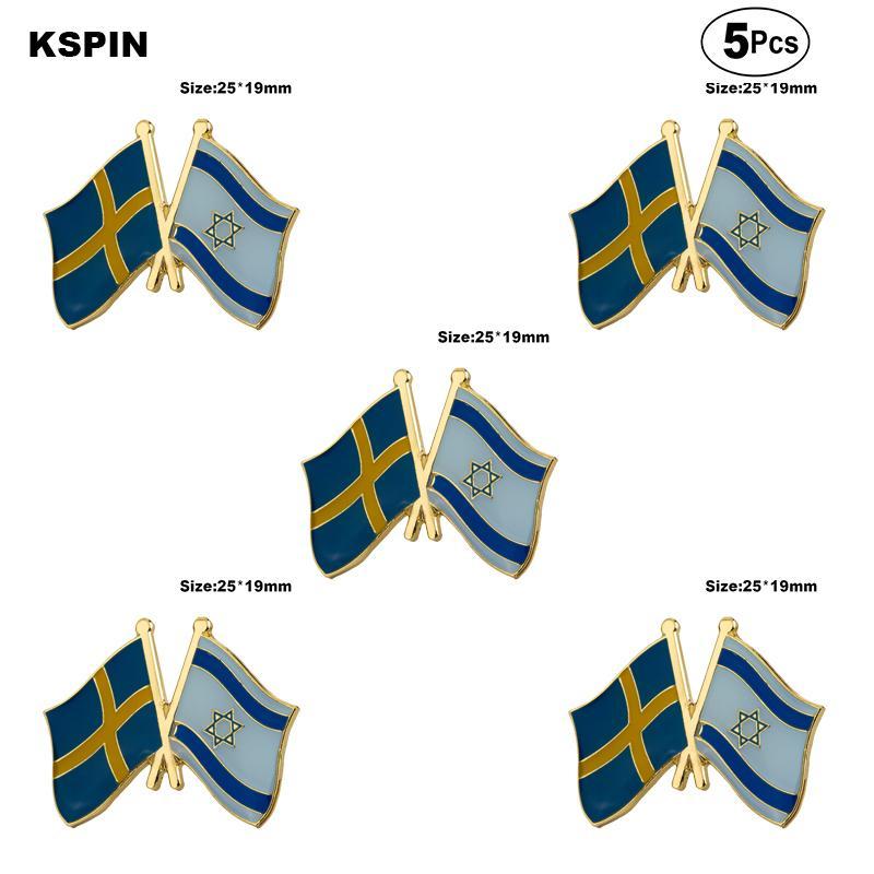 Schweden Israel Broschen Revers Pin Flagge Abzeichen-Brosche Abzeichen