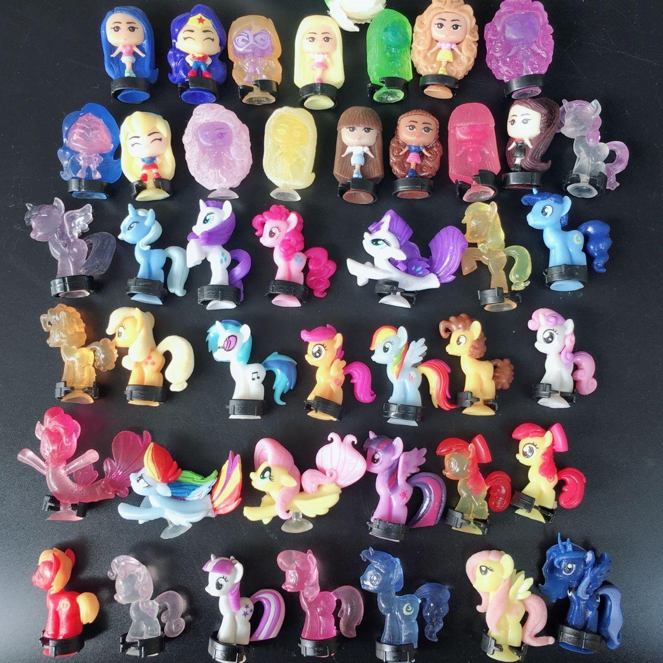 Kristall Farbe Kleine Pegasus Saugnapf-Puppe spielt 3cm Pvc Cartoon Animation Peripheral Twist Egg Sammlung Geschenk L416