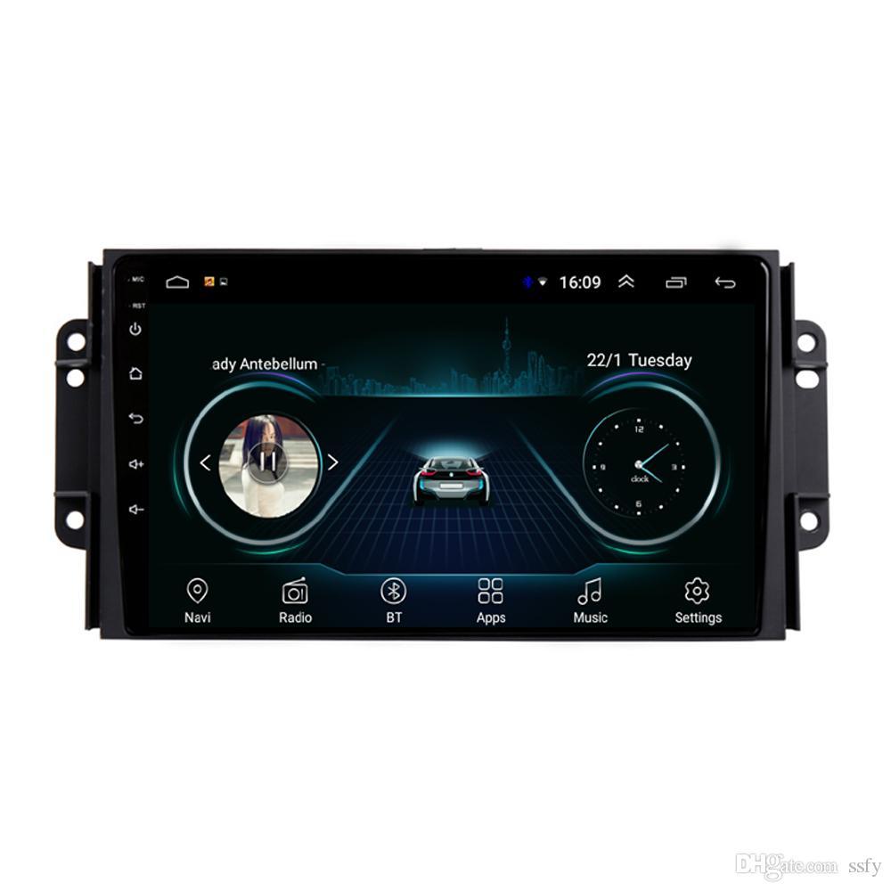 Android car GPS with radio AM FM multi-touch screen multimedia player high quality microphone bluetooth for Chery tiggo 3 3X tiggo 2 9inch