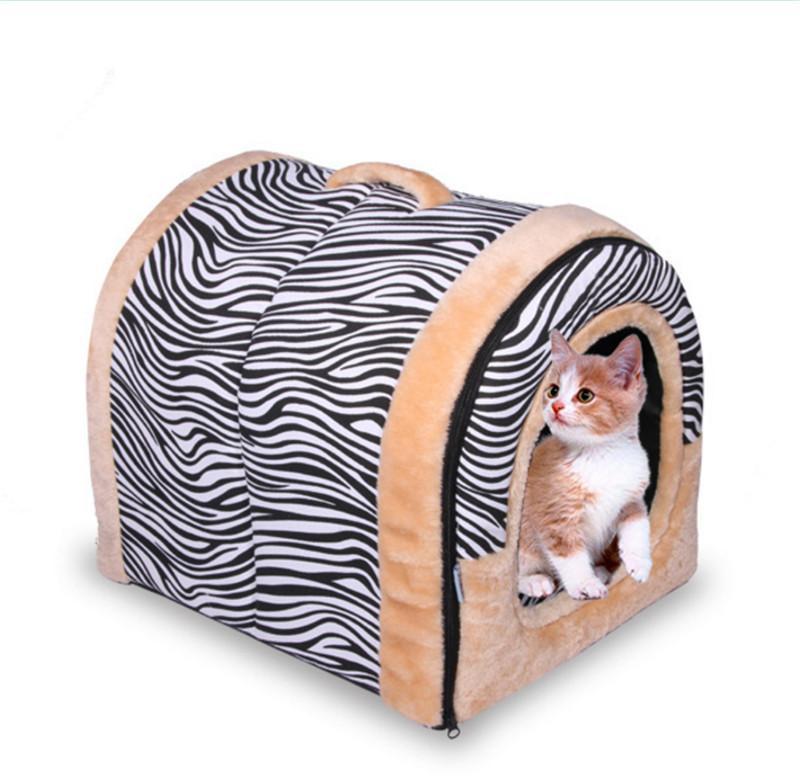 애완용 고양이 이글루 침대 작은 개 부드러운 침대 집 방수 커버