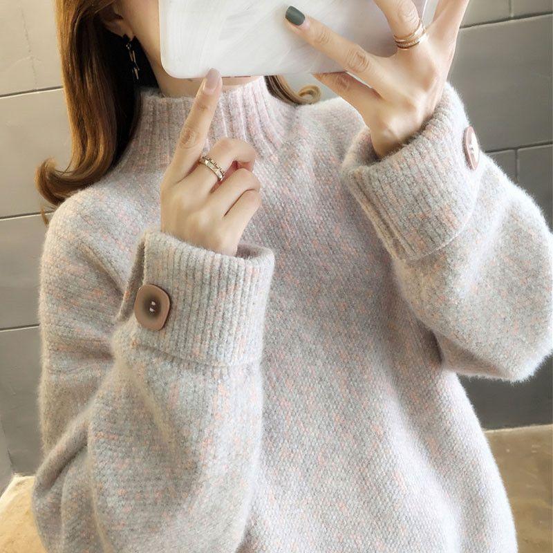 Новая водолазка синель женский свитер толстый теплый зимний свободный Женская верхняя одежда пуловер вязать Ropa Mujer шикарная одежда