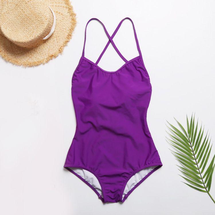 블랙 핑크 퍼플 수영복 원피스 수영복 여성 섹시한 백리스 수영복 여성 수영복 여성 비치 수영복 Monokini Swim Wear