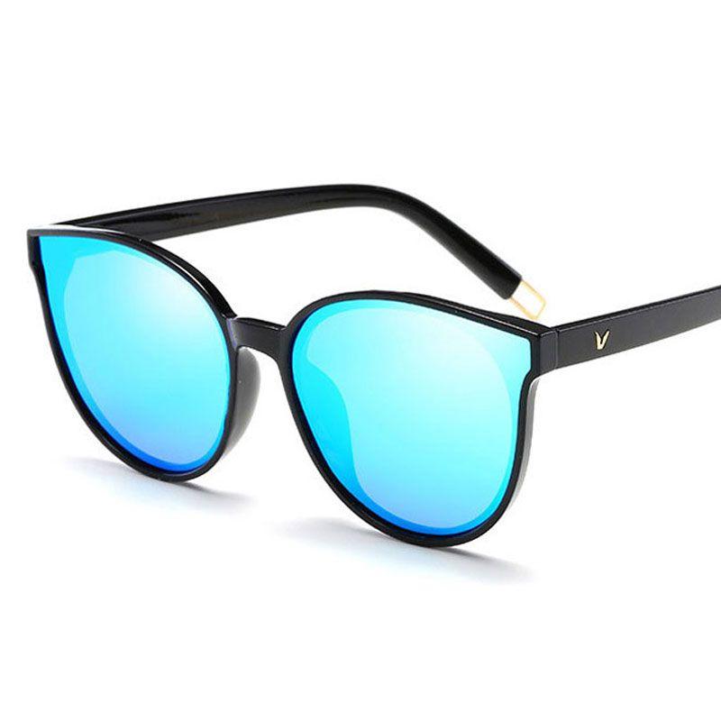 2021 패션 여성 선글라스 고양이 눈 음영 럭셔리 최신 디자이너 편광 안경 성격 통합 안경 UV400
